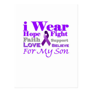 I Wear Purple Epilepsy for My Son Products Post Card