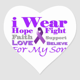 I Wear Purple (Epilepsy) for My Son Products Stickers