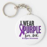 I Wear Purple For ME 10 Lupus Key Chain