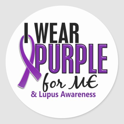 I Wear Purple For ME 10 Lupus Round Stickers