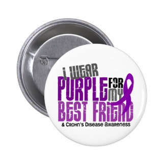 I Wear Purple For My Best Friend 6 Crohn's Disease 6 Cm Round Badge