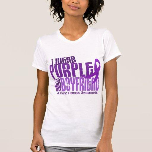 I Wear Purple For My Boyfriend 6.4 Cystic Fibrosis Shirts