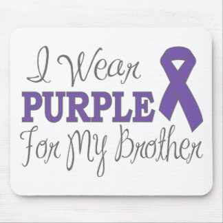 I Wear Purple For My Brother (Purple Ribbon) Mouse Pad