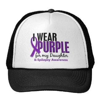 I Wear Purple For My Daughter 10 Epilepsy Trucker Hat