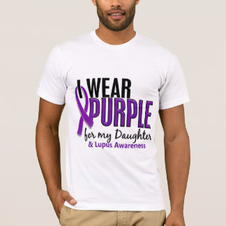 I Wear Purple For My Daughter 10 Lupus T-Shirt