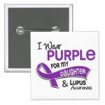 I Wear Purple For My Daughter 42 Lupus 15 Cm Square Badge