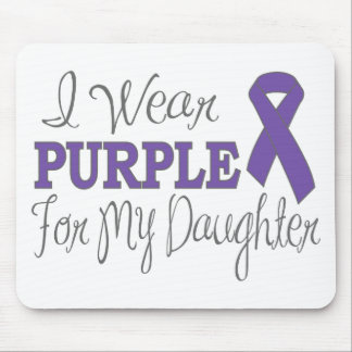 I Wear Purple For My Daughter (Purple Ribbon) Mouse Pad