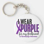 I Wear Purple For My Girlfriend 10 Fibromyalgia Key Chains