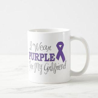 I Wear Purple For My Girlfriend (Purple Ribbon) Basic White Mug