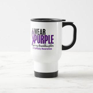 I Wear Purple For My Granddaughter 10 Epilepsy Travel Mug