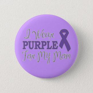 I Wear Purple For My Mom (Purple Ribbon) 6 Cm Round Badge