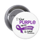 I Wear Purple For My Nephew 42 Lupus Pinback Button