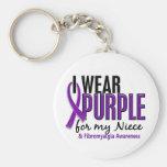 I Wear Purple For My Niece 10 Fibromyalgia Keychain