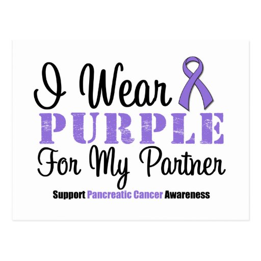I Wear Purple For My Partner Post Cards