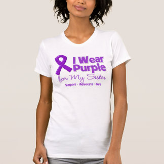 I Wear Purple For My Sister T-shirts