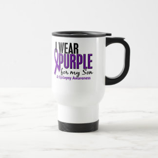 I Wear Purple For My Son 10 Epilepsy Travel Mug