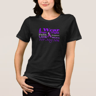 I Wear Purple for My Son Epilepsy Awareness Shirt