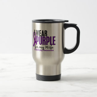 I Wear Purple For My Wife 10 Epilepsy Travel Mug