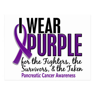 I Wear Purple FST 10 Pancreatic Cancer Postcard