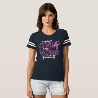 I Wear Purple & Green For Anal Cancer Awareness T-Shirt