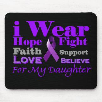 I Wear Purple - My Daughter Has Epilepsy Mousepad