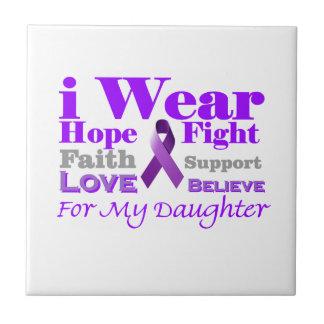 I Wear Purple - My Daughter Has Epilepsy Ceramic Tiles