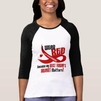 I Wear Red For My Best Friend's Heart 33 T-Shirt