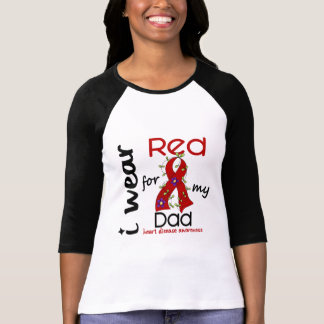 I Wear Red For My Dad 43 Heart Disease T-Shirt