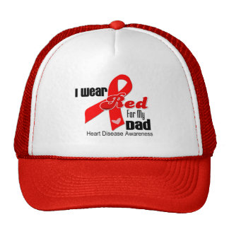 I Wear Red For My Dad Heart Disease Hats
