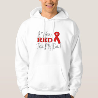I Wear Red For My Dad (Red Ribbon) Pullover