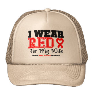 I Wear Red For My Wife Hat