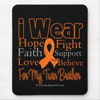 I Wear Ribbon Collage Twin Brother - Leukaemia Mouse Pad