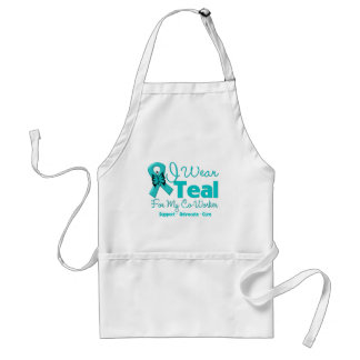 I Wear Teal For My Co-Worker Adult Apron