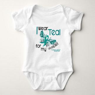 I Wear Teal For My Grandma 45 Ovarian Cancer Baby Bodysuit