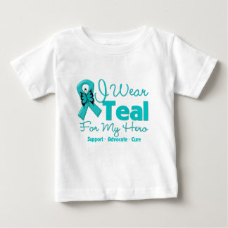I Wear Teal For My Hero Baby T-Shirt