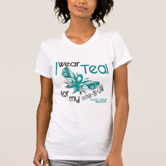 I Wear Teal For Sister-In-Law 45 Ovarian Cancer T Shirts