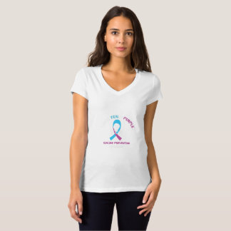 I Wear Teal Purple For Suicide Prevention T-Shirt