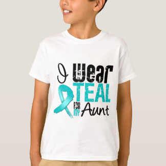 I Wear Teal Ribbon For My Aunt T-Shirt