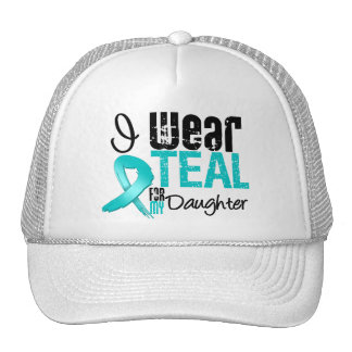 I Wear Teal Ribbon For My Daughter Mesh Hats