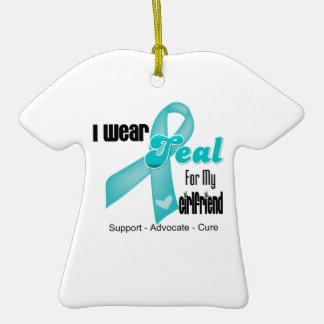 I Wear Teal Ribbon For My Girlfriend Ornaments