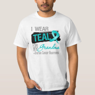 I Wear Teal Ribbon For My Grandma Ovarian Cancer T-Shirt