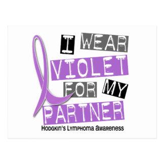 I Wear Violet For My Partner 37 Hodgkin's Lymphoma Postcard