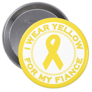 I Wear Yellow For My Fiance 10 Cm Round Badge
