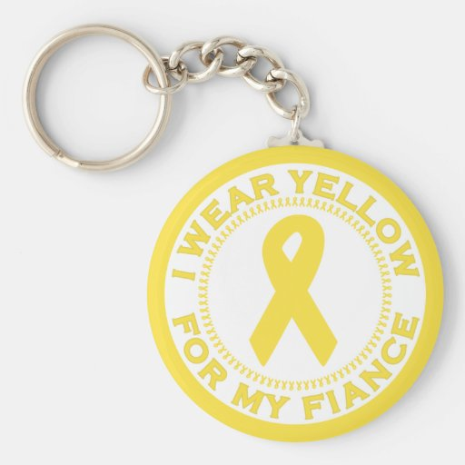 I Wear Yellow For My Fiance Key Chain
