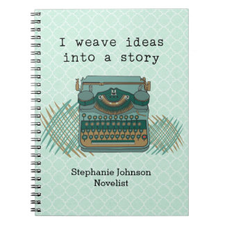 I Weave Ideas Into A Story Vintage Typewriter Notebook