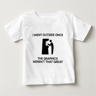 I went outside onceThe graphics weren't that grea Baby T-Shirt