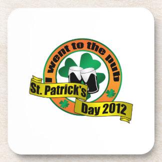 I went to the pub Saint patrick s day 2012 Coasters