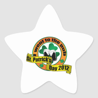 I went to the pub Saint patrick s day 2012 Star Stickers