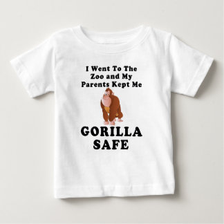I Went To The Zoo - Gorilla Safe Baby T-Shirt