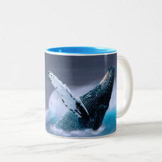 I Whale Always Love You breaching whale mug